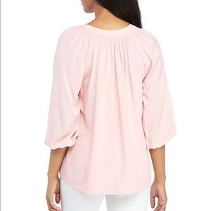 crown & ivy Tops - Crown & Ivy 3/4 Sleeve Y Neck Peasant Blouse